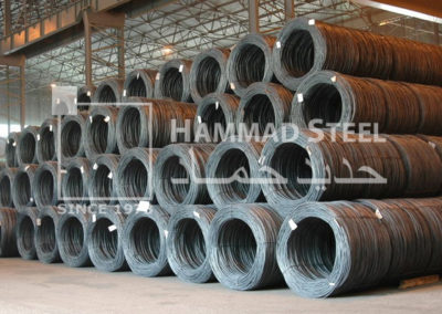 Coil of Steel Wire in Warehouse