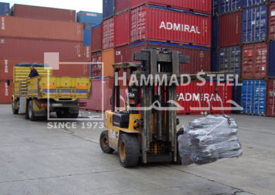 Crane Carring Coils of Annealed Wires