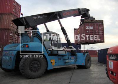 Crane Carring Container