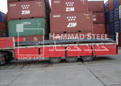 Steel Rebar Truck is Ready for Unloading